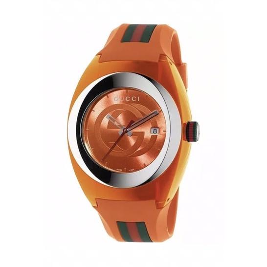 🔥 Gucci Sync XXL Unisex Orange Rubber Watch