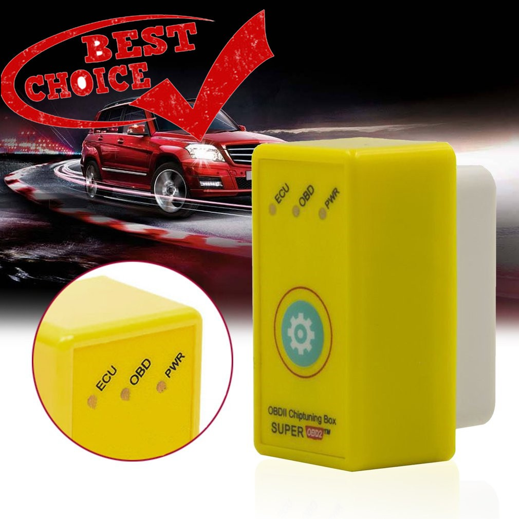 COD Plug And Drive Interface Super OBD2 ECU Chip Tuning Box For Gasoline  Vehicles
