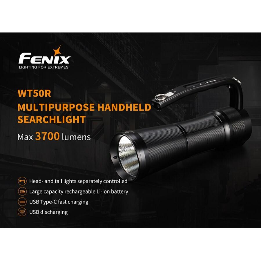 ไฟฉาย Fenix WT50R Rechargeable 3700 Lumen Searchlight สินค้ารับประกัน 3 ปี