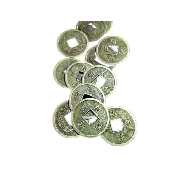 เหรียญจีนสีทองขนาด20มิล. 2 บาท