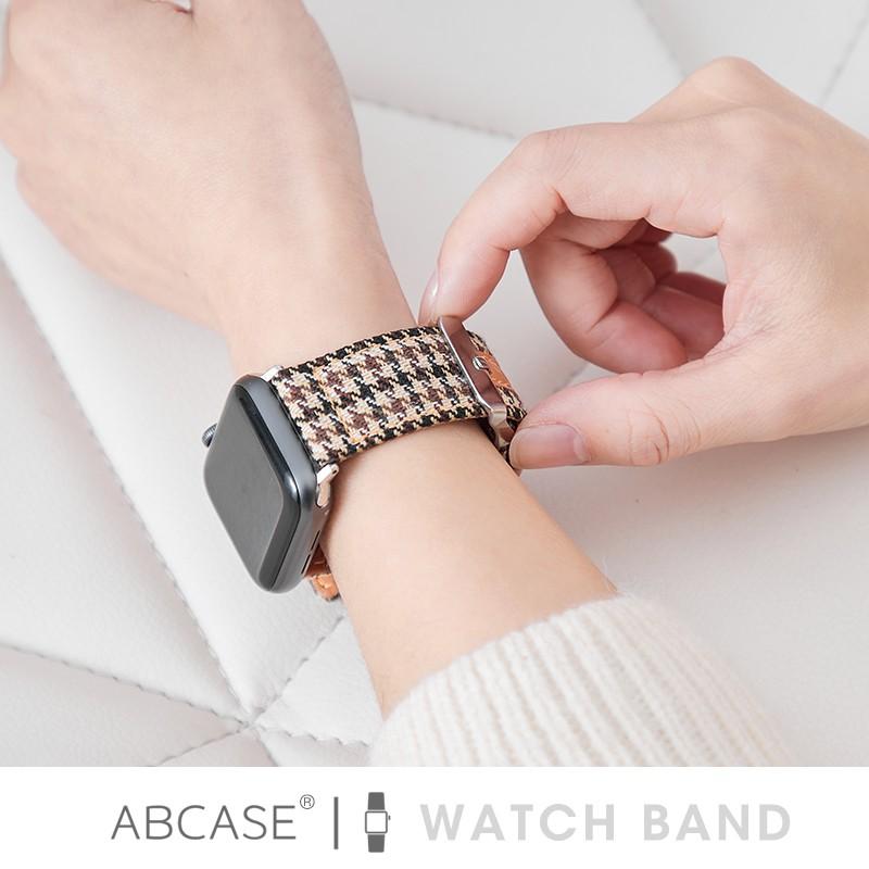 สาย applewatch✸ஐ㍿ABCASE เหมาะสำหรับสายนาฬิกา Apple น้ำหอมขนาดเล็ก applewatch6 / 5/4 SE สายสร้างสรรค์ iwatch houndstooth