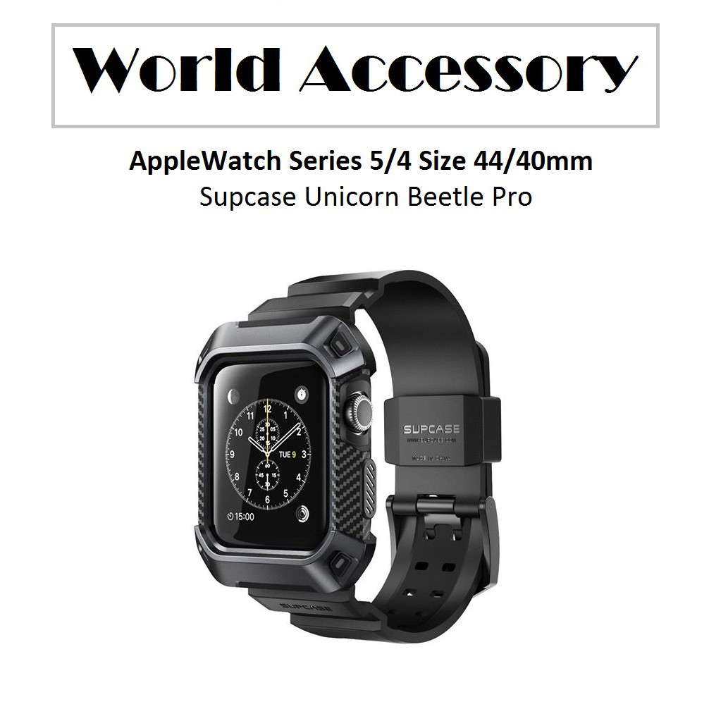 Supcase - Ốp AppleWatch Series 5/4 Size 44/40mm Supcase UB Pro Chống Sốc - Màu Đen nGzW