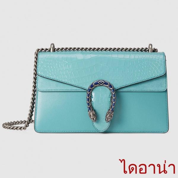 Gucci / New / Dionysus series กระเป๋าสะพายใบเล็กหนังจระเข้ / กระเป๋าถือเด็กผู้หญิง / ของแท้ 100% / 28CM กระเปาเป