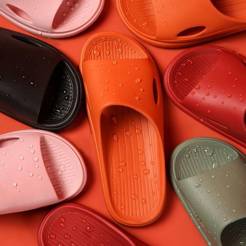 ยางยืดออกกําลังกาย♈♝🌈รองเท้าสตรี🌈  รองเท้าแตะในร่มระงับกลิ่นกายน้ำหนักเบาห้องน้ำบ้านลื่นด้านล่างนุ่มทุกวันรองเท้าแตะแ