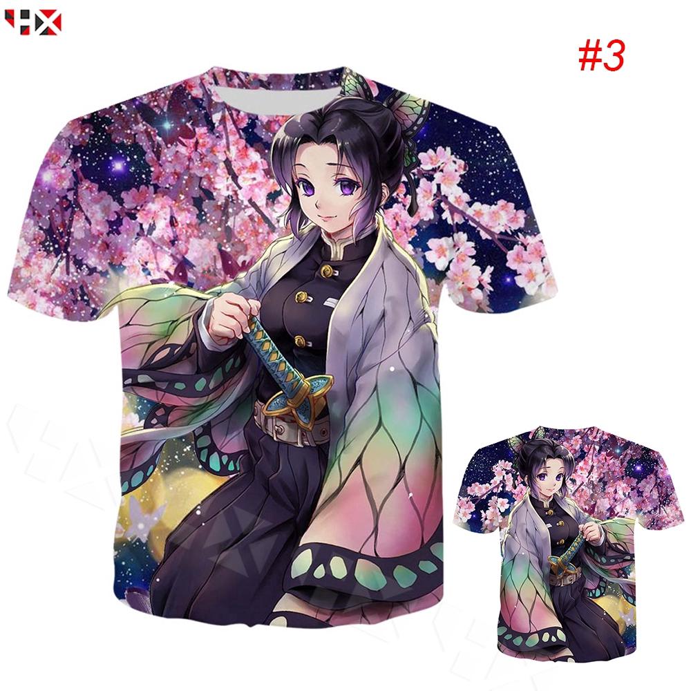 เสื้อยืดพิมพ์ลาย Kimetsu No Yaiba Shinobu Kocho 3 D สําหรับผู้ชาย