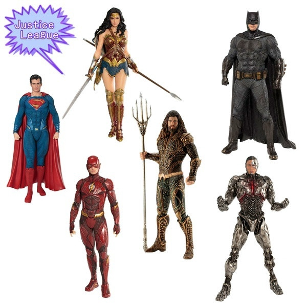Justice League Cyborg Aquaman Flash Wonder Women Batman Superman Action Figure