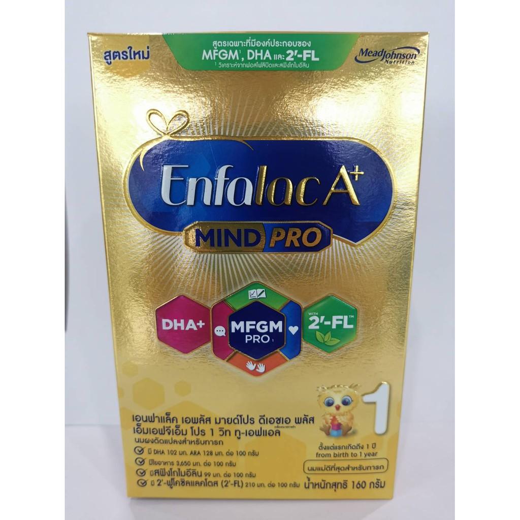 เอนฟาแล็ค เอพลัส มายด์โปร สูตร 1 enfalac A+ MINDPRO ขนาด 160 g exp 01/10/2022