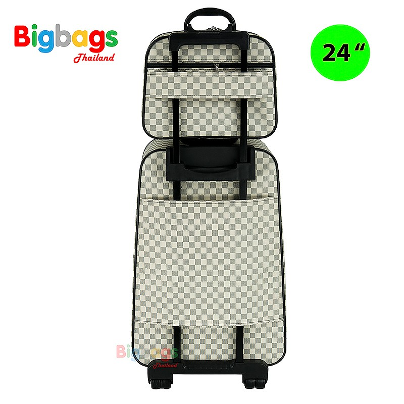 กระเป๋าเดินทาง ล้อลาก ระบบรหัสล๊อค 4 ล้อคู่หลังเซ็ทคู่ 24นิ้ว/14 นิ้ว รุ่น New luxury 99124 rncb