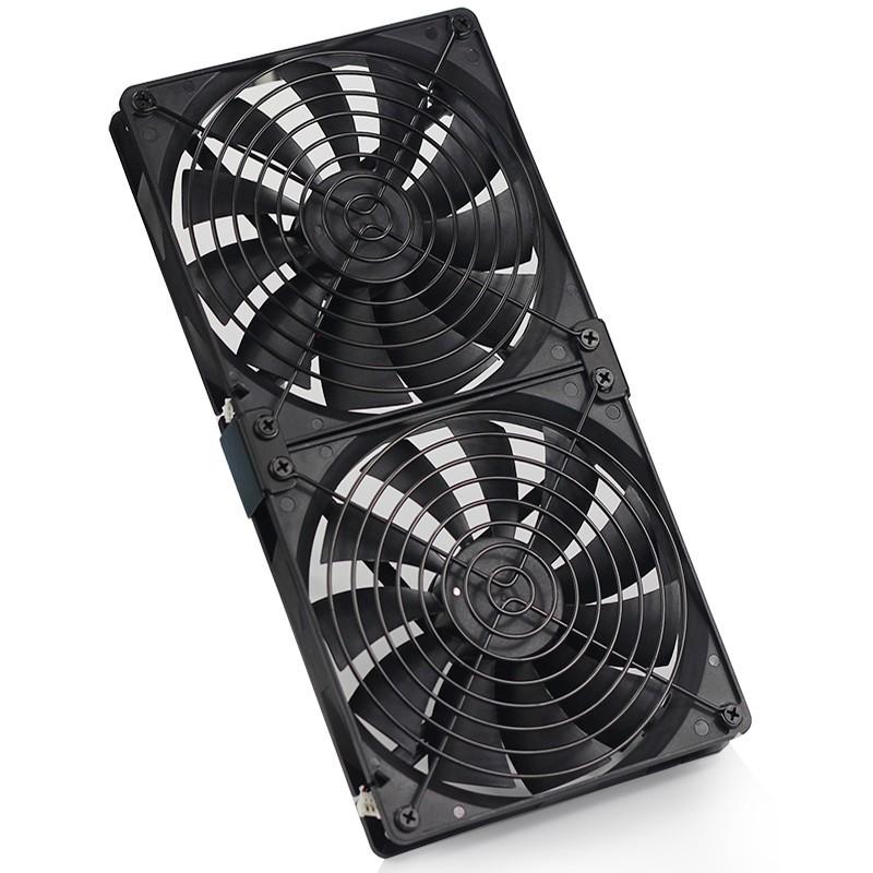☃✉☫พัดลมระบายความร้อน 140mm DC 12V สำหรับ BTC Miner Bitcoin Asic S7 S9 Server Cooling Fan