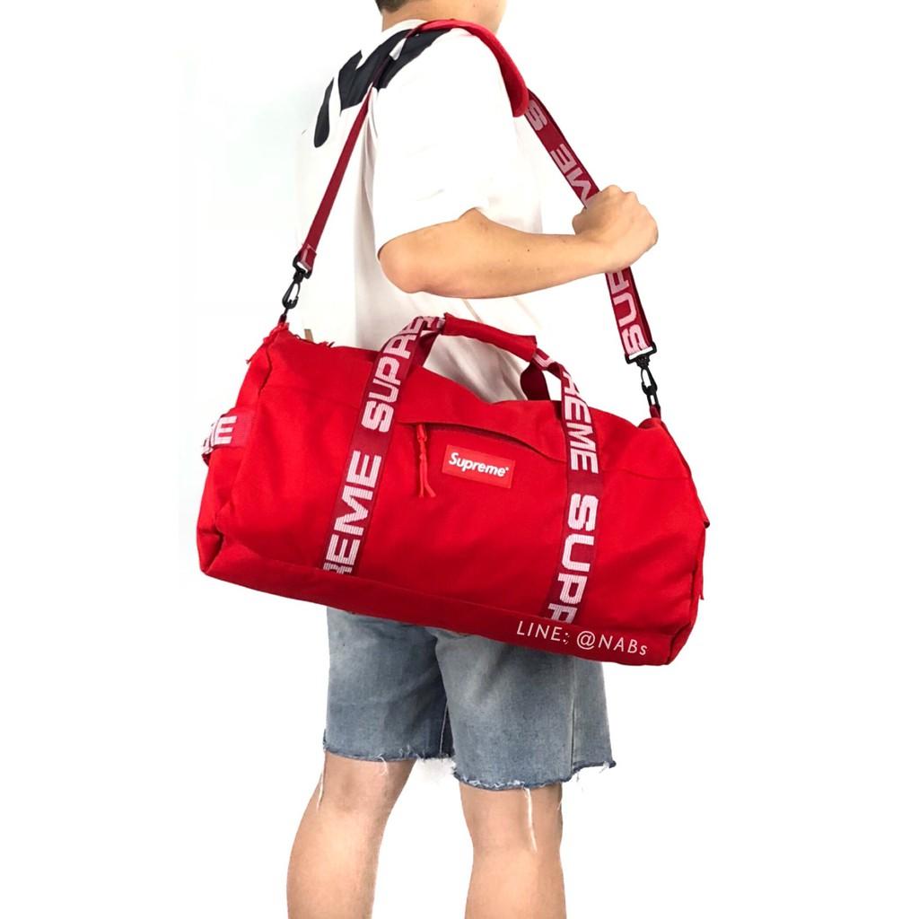 ส่งฟรี !!! กระเป๋าเดินทาง SUPREME Duffle Bag SS18 - N006 (สายปรับความยาวได้ จุของได้เยอะ)