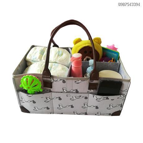 กระเป๋าใส่ของลูก  ถุงใส่ของกระเป๋าจัดระเบียบเดินทาง✌◊﹍> กระเป๋าผ้าอ้อมสักหลาด, กระเป๋าเก็บสำหรับเดินทาง, ตะกร้าเก็บของ