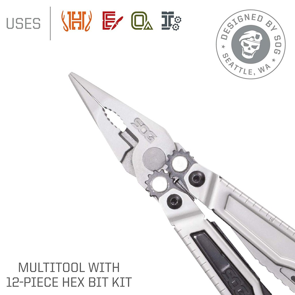 9 In 1 Stainless Plier Outdoor Steel Multi Tool Pocket Mini Camping Kit Portable