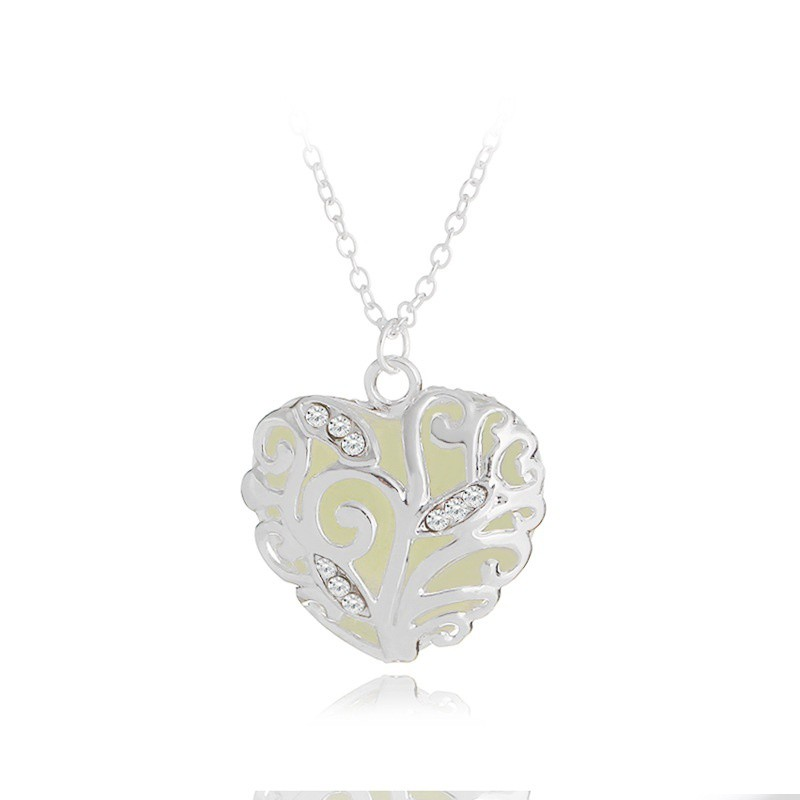 Fashion Jewelry Lady 925 Silver  Love Cube Necklace Pendant with Chain