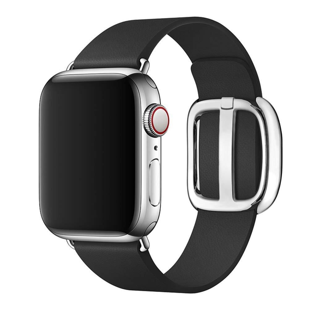 สายเปลี่ยนสำหรับ applewatch สายหนัง สร้อยข้อมือหนังแท้ 44มม.42 มม.40 มม.38 มม.series se 6 5 4 3 2 1 2Z6l