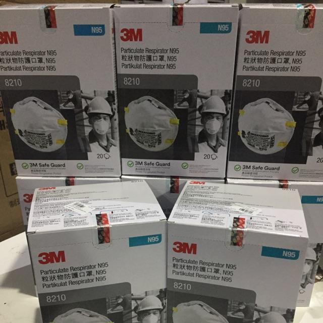 3M 8210 N95 แบบกล่อง หน้ากากป้องกันฝุ่นละอองมาตรฐาน N95