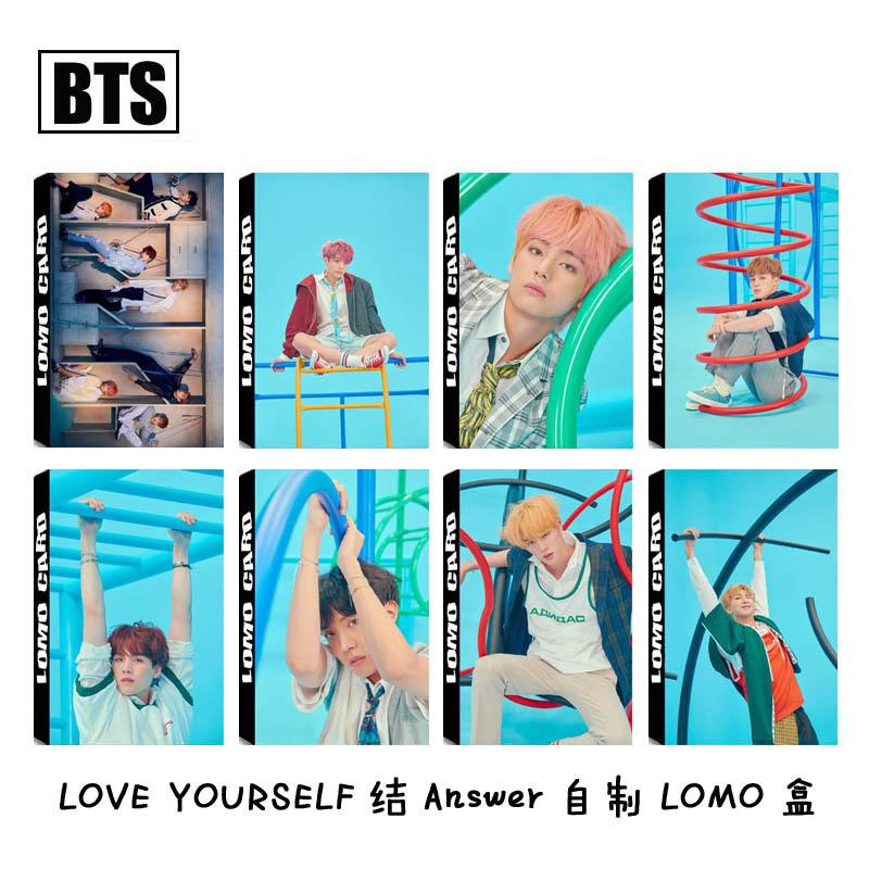 Review KPOP BTS Lomo Card LOVE YOURSELF 结Answer Photocards V SUGA JIMIN JIN Fan Gifts