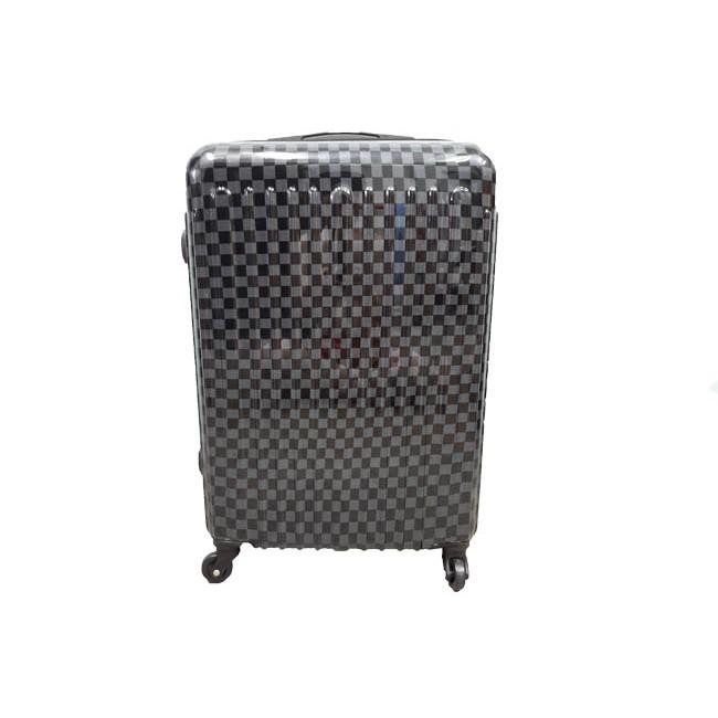 🔥HOT SALE 🔥 กระเป๋าเดินทางลายตาราง ขนาด 24 นิ้ว ผลิตจากวัสดุ Polypropylene แข็งแรง ทนทาน