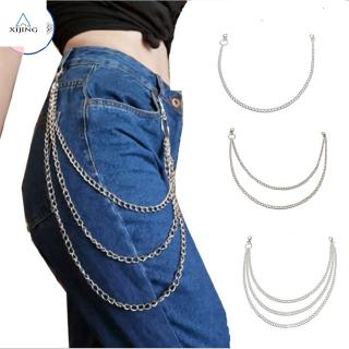 XIJING-COD fashion woman boho retro long chain multilayer waist chain