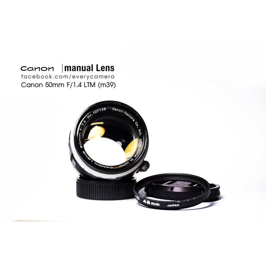 Canon ltm 50mm f1.4 M39 mount เลนส์มือหมุน