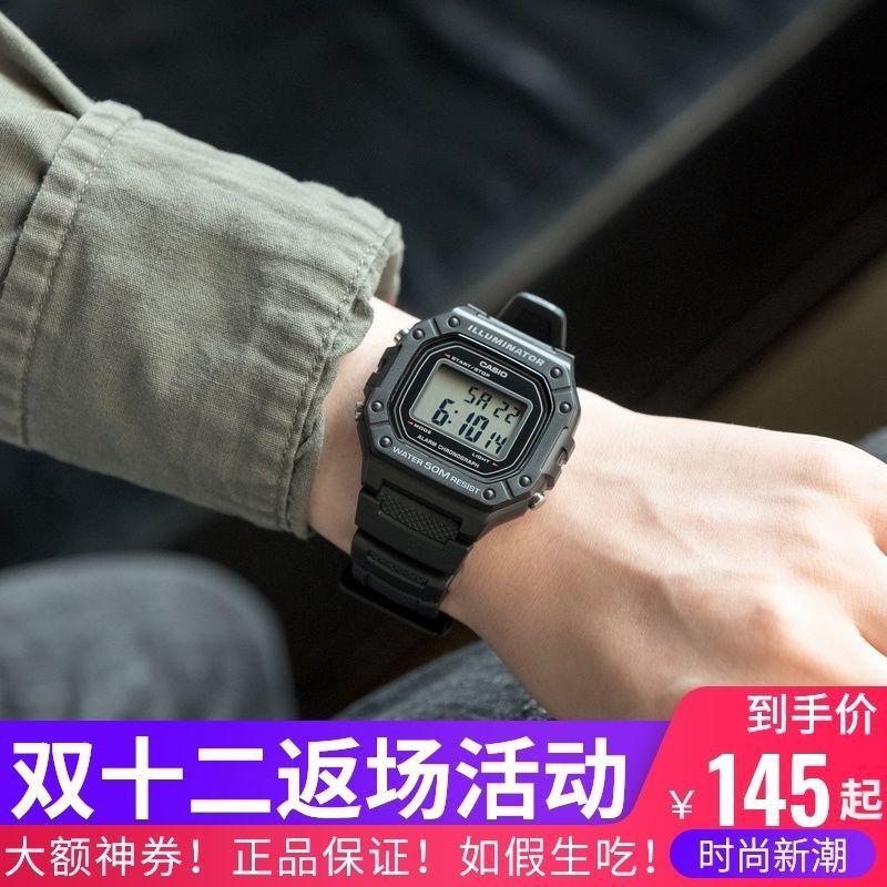 applewatch series 6✢❁Casio Digital Cube Quartz Watch Fashion กีฬานาฬิกากันน้ำนาฬิกาผู้ชาย W-218H-1A/3A/4B/4B2