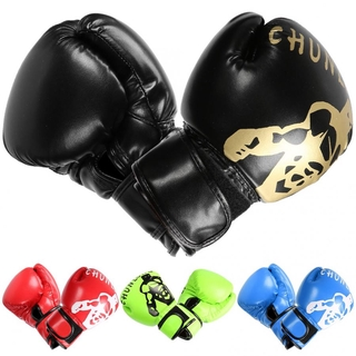 1 Pair Boxing Gloves Soft Breathable Sanda Boxing glove Widen hook&loop Adult Children Gym Training Practicing Equipment