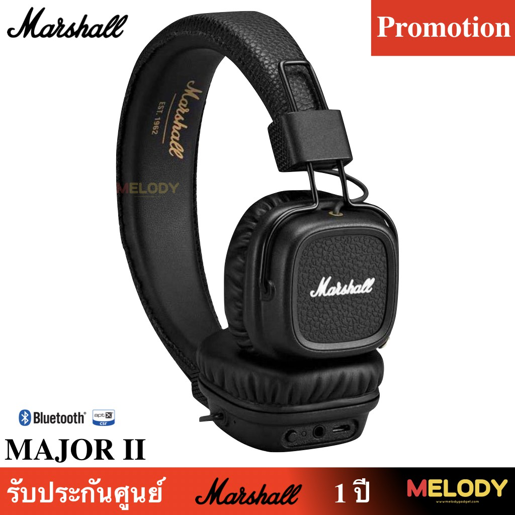 f3268f8e9e4 Original Marshall major On Ear Headphones Built-in Microphone รีใมท control  Answe | Shopee Thailand