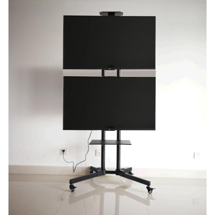 วางทีวีที่ยึดมือถือทีวี32-65นิ้วชั้นซ้ายและขวาคู่จอแขวนกิจกรรมการประชุมวงเล็บแสดงผล