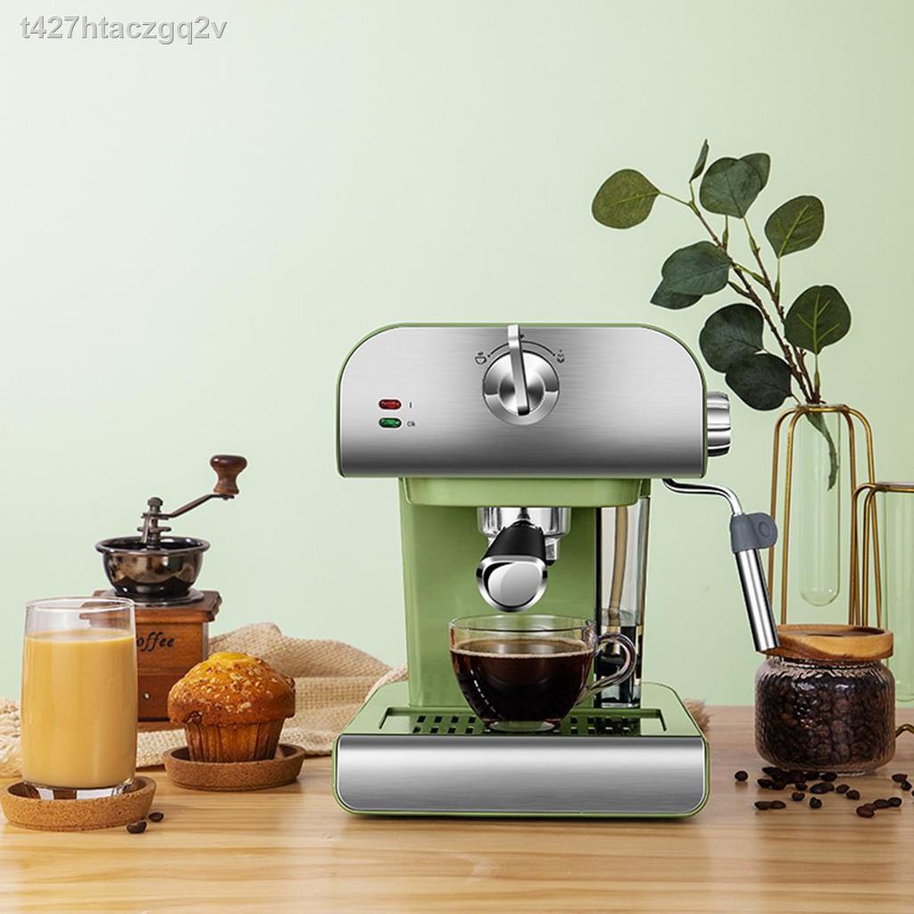 💌เครื่องใช้ในบ้าน🏐ↂเครื่องชงกาแฟ เครื่องชงกาแฟเอสเพรสโซ เครื่องทำกาแฟขนาดเล็ก เครื่องทำกาแฟกึ่งอัตโนมติ Coffee maker