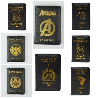 08f7e979 เคสพาสปอร์ต มาร์เวล , Avengers Black panther Wakanda Asgard Shield Marvel  Passport
