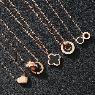 Spot European and American simple fashion Noble titanium steel necklace Swan necklace animal pendant fas	hion heart-shaped n	ecklace clavicle chain