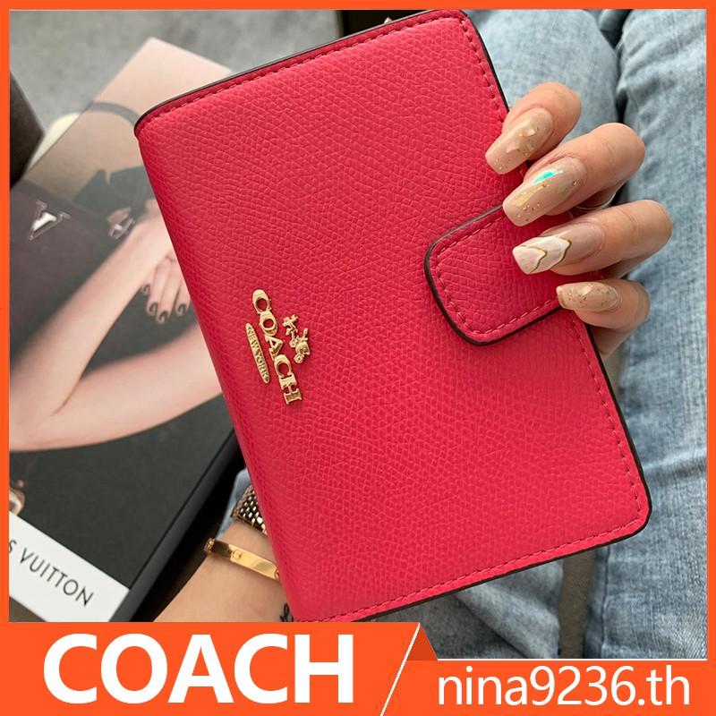 coach กระเป๋าสตางค์ ผู้หญิง F53436  กระเป๋าสตางค์ใบสั้น กระเป๋าสตางค์ผู้หญิง กระเป๋าตังค์ กระเป๋าสตางค์ใบสั้น