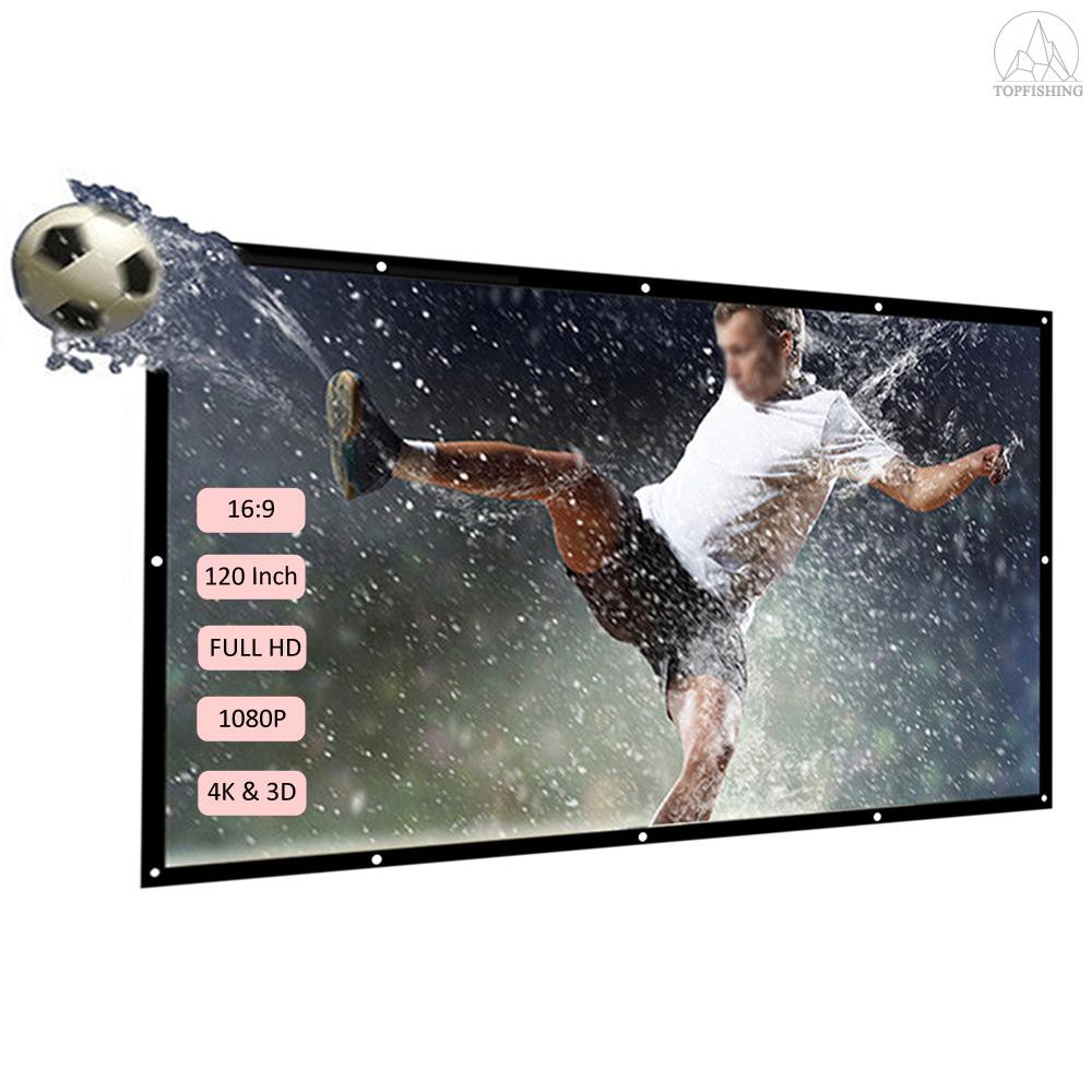 DOACE Portable 100 Inch HD Video Projector Screen 16:9 Indoor Outdoor Foldable