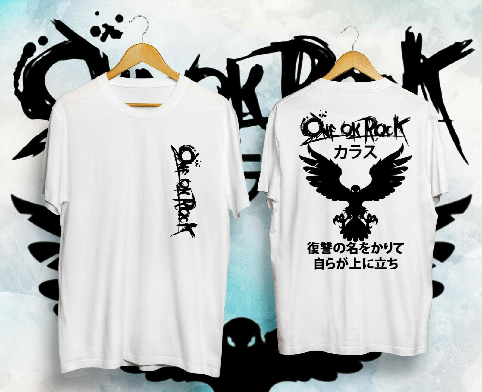 Karasu ONE OK ROCK Crow เสื้อยืดสไตล์ลำลองไซส์ S 2XL
