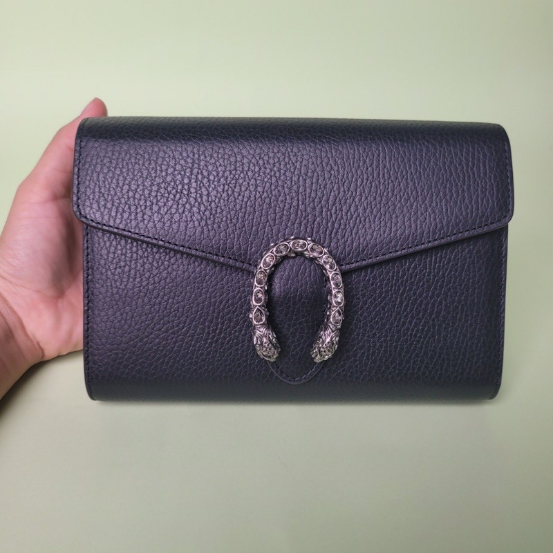 GUCCI Black Mini Dionysus Wallet Chain Bag