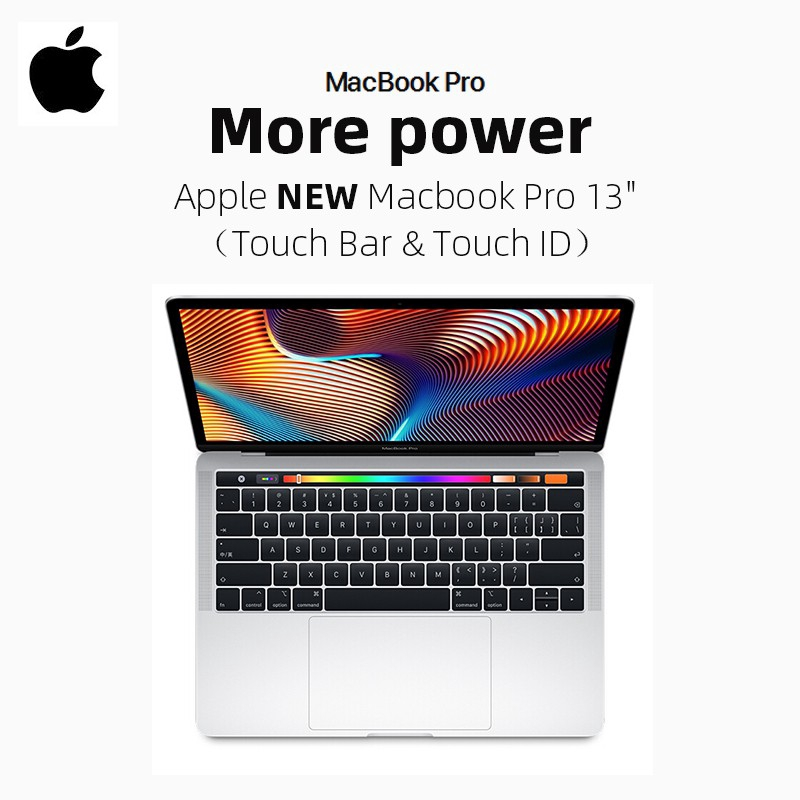 Apple New Macbook Pro 13 CH Touch Bar & Touch ID Grey / Silver 2018
