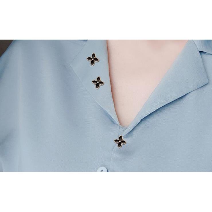 1PC_เข็มกลัดโลหะผสมสีดำรูปแบบต่างๆสามารถปรับขอบเสื้อผู้หญิงตอนหน้าอกได้