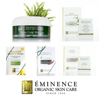 Review พร้อมส่ง ++ Eminence Masque: Bamboo Age Corrective, Eight Greens Phyto, Citrus & Kale Potent C+E, Stone Crop Mask