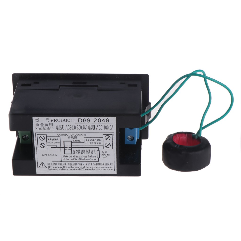 Ac 80 300 V Voltmeter Ammeter Power Energy Meter 100a Ct Shopee Wiring Diagram With Thailand