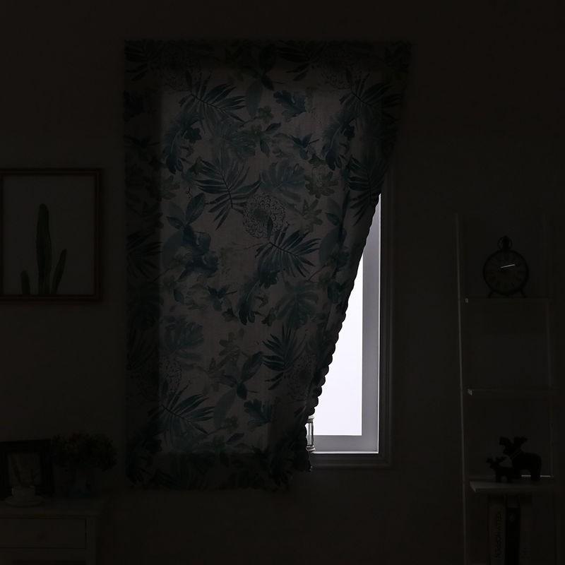 ✲♟❒[ผ้าหนา] ฟรีผ้าม่านปิดทึบสำเร็จรูปห้องนอนนอร์ดิกม่านประตูสีแดงตาข่ายเรียบง่ายม่านตีนตุ๊กแก