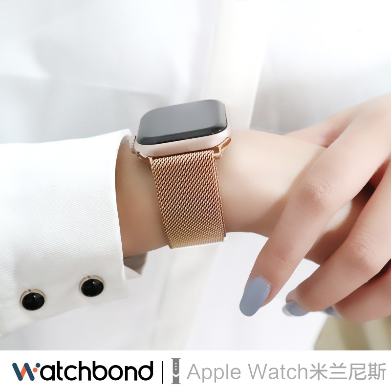 applewatch6 เข็มขัด▲❈❐สายนาฬิกา Apple iwatch SE / 6/5/4/3/2 แทนนาฬิกา สายรัดพร้อมสายนาฬิกา applewatch Milano Magnetic