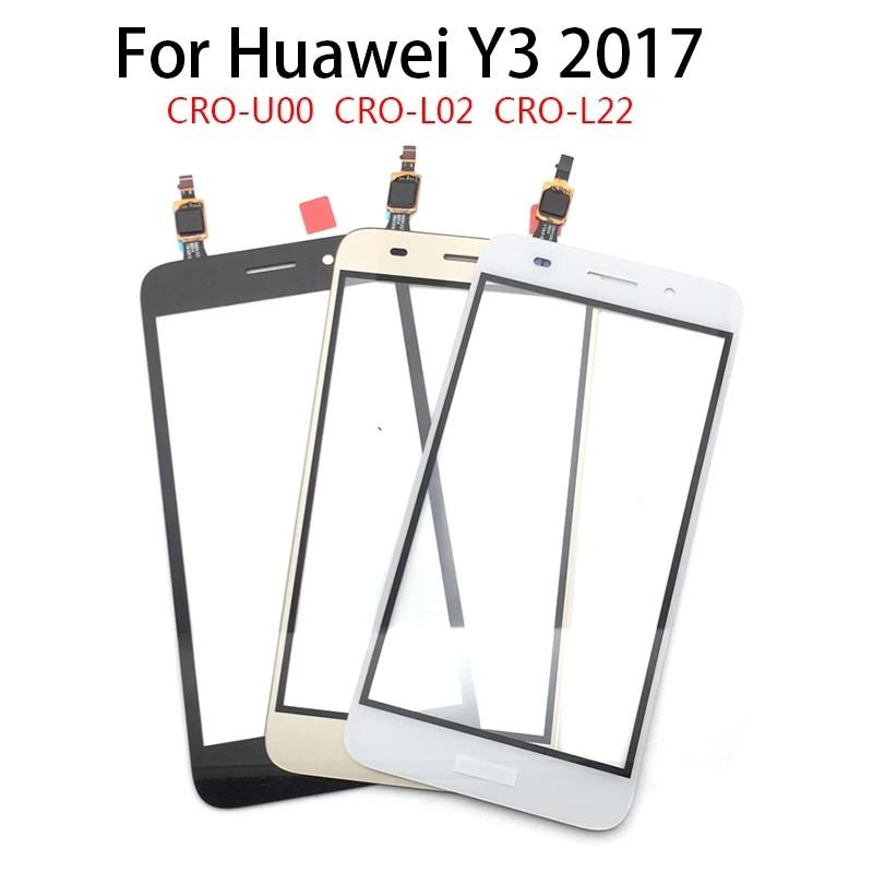 แผงเซนเซอร์หน้าจอสัมผัสสําหรับ Huawei Y3 2017 Cro-u00 Cro-l02 Cro-l22