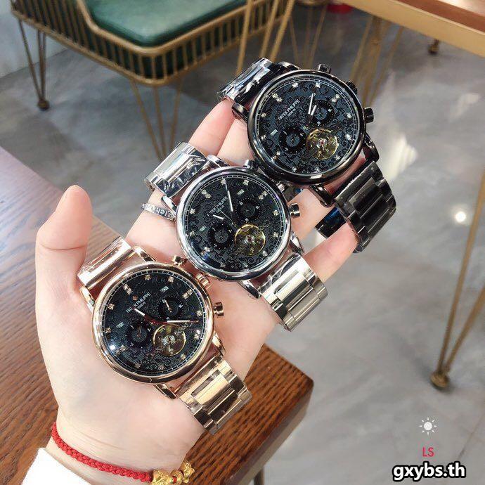 PATEK PHILIPPE นาฬิกาผู้ชายนาฬิกากลไกอัตโนมัตินาฬิกาของแท้