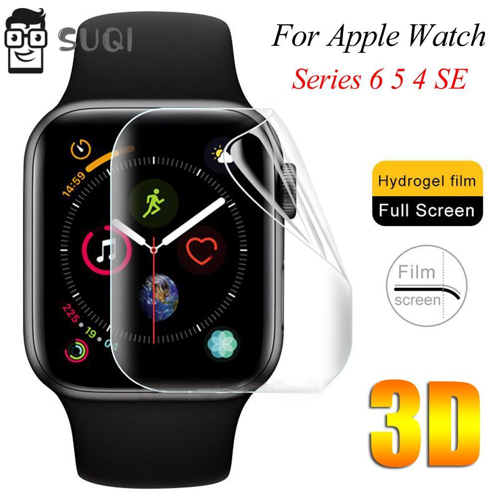 Suqi ฟิล์มกันรอยหน้าจอ Tpu 1 / 3 / 5 ชิ้นสําหรับ Apple Watch Series 6 5 4 Se 40 mm 44 mm