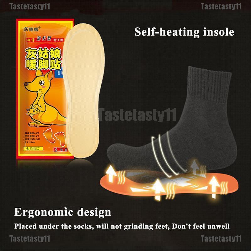 2PCS Electric Heating Shoe Insoles Socks Feet Heater USB Foot Winter Warmer