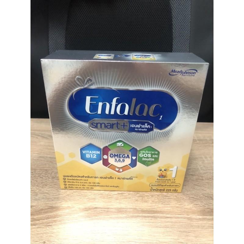 พร้อมส่งจ้า เอนฟาแลค สมาร์ทพลัส สูตร 1 (Enfalac Smart+ 1) นมผงสำหรับเด็กแรกเกิด - 1 ปี ขนาด 225 กรัม