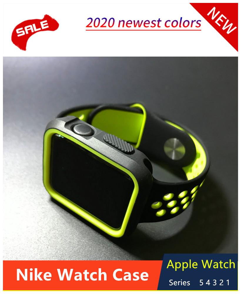 เคสซิลิโคนกันชนสําหรับ Apple Watch 44mm 40mm I Watch Case 42mm/38mm 5 4 3 2 1