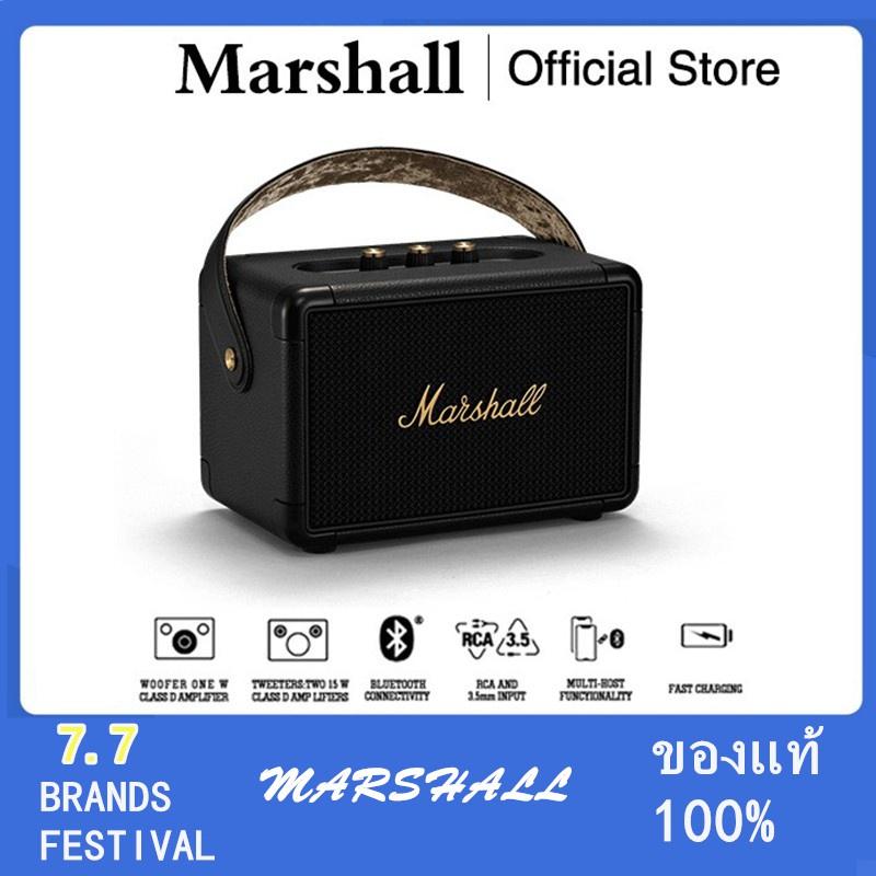 ▩❒ลําโพง Marshall Kilburn II Black - marshall ลำโพงบลูทูธ มาร์แชล Kilburn II ลำโพง รุ่นที่2 ลำโพงคอมพิวเต ประกัน 1 ปี