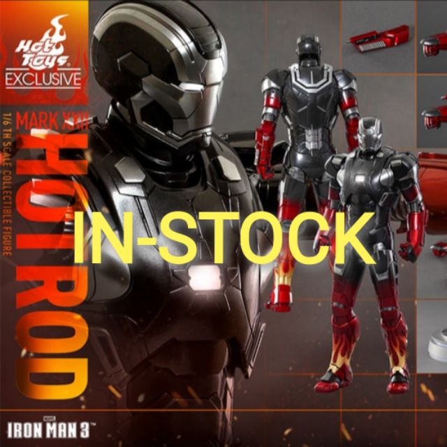 HOT TOYS - IRON MAN MARK XXII / MARK 22 HOT ROD [ DIE CAST ] : IRON MAN 3