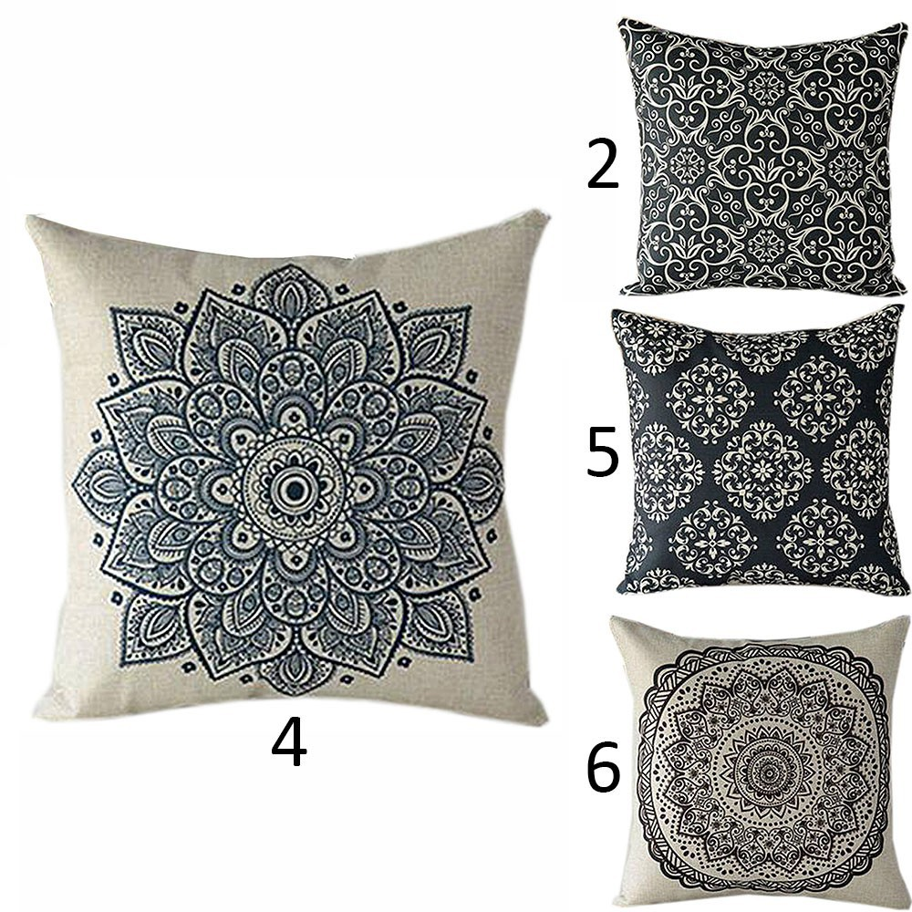45*45cm Solid Color Comfort Zipper Sofa Throw Pillow Case Car Back Cushion Cover