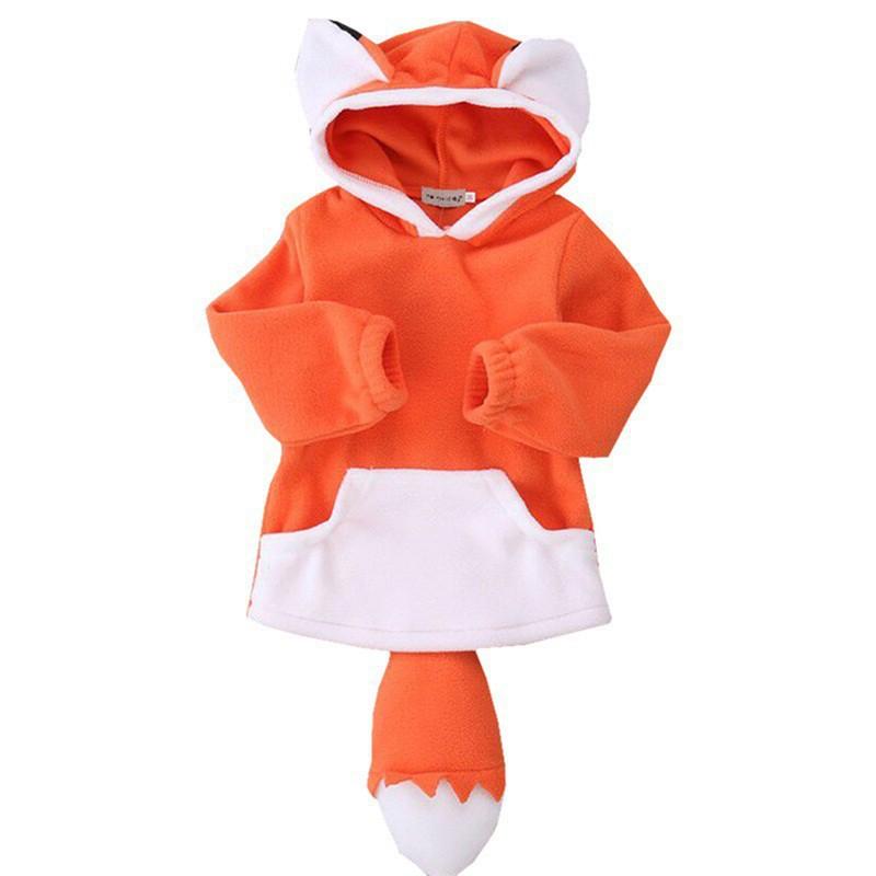 Ffox Baby Boys Girls Cute Bear Hoodies Sleeveless Zipper-up Vest Coats